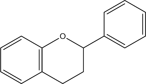 Figure 3: Chemical structure of flavan as a general structure has been found in many flavonoids.